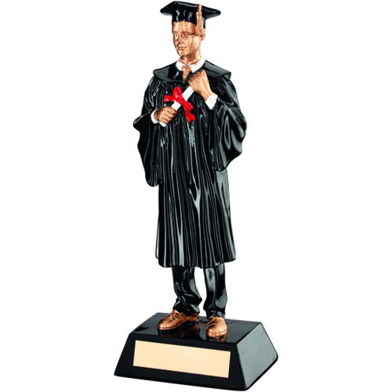 Picture of Blk/gold Resin Male Graduate Trophy - 9.25in (235mm)