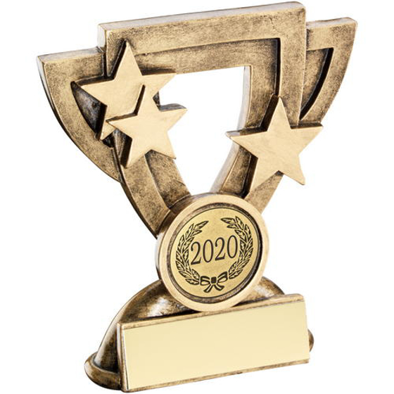 Picture of Brz/gold Generic Mini Cup Trophy (1in Centre) - 4.25in (108mm)