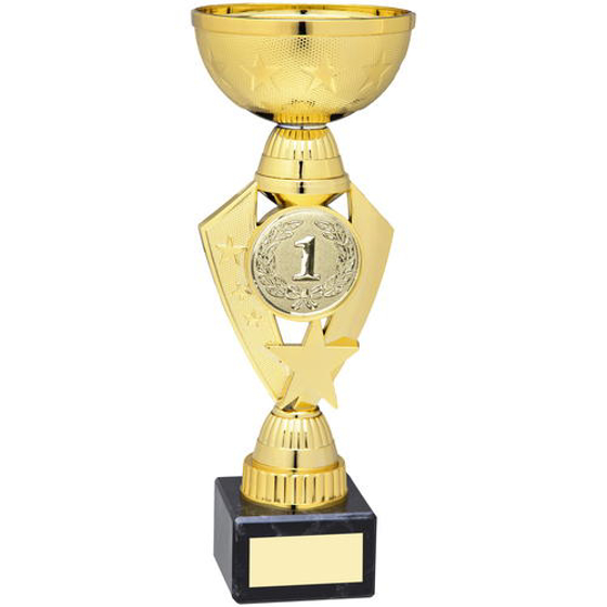 Picture of Gold Total Plastic Star Trophy - (2in Centre) 10.25in (260mm)
