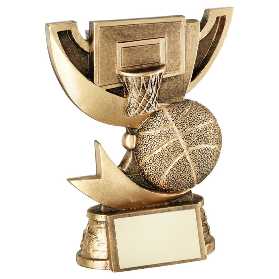Picture of Brz/gold Cup Range For Basketball Trophy - 5in (127mm)