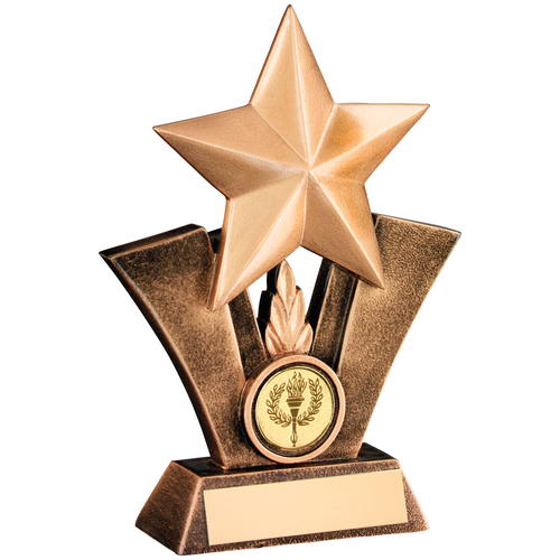 Picture of Brz/gold Generic Star Resin Trophy - (1in Centre) 6.25in (159mm)