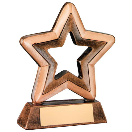 Picture of Brz/gold Resin Generic Mini Star Trophy -       3.75in (95mm)