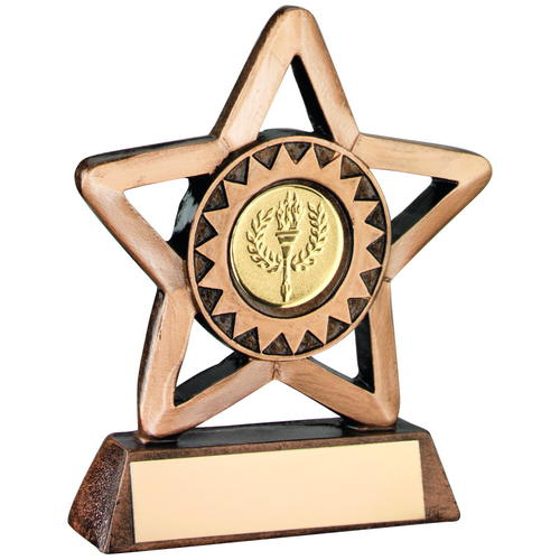 Picture of Brz/gold Resin Generic Mini Star Trophy (1in Centre) - 4.25in (108mm)