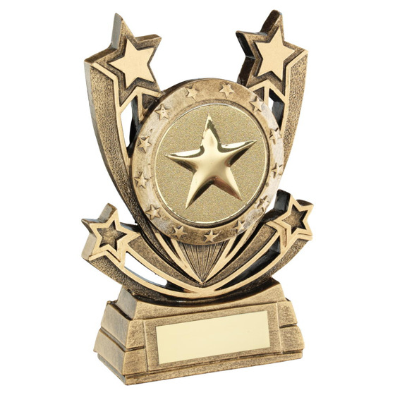 Picture of Brz/gold Shooting Star Series Generic Trophy (2in Centre) - 6in (152mm)