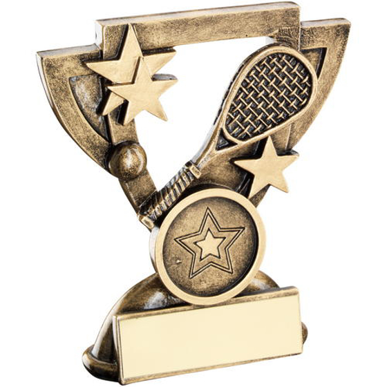 Picture of Brz/gold Squash Mini Cup Trophy - (1in Centre) 3.75in (95mm)