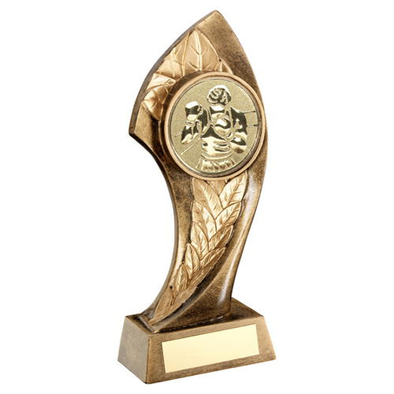 Picture of Brz/gold Twisted Leaf With Boxing Insert Trophy - 7in (178mm)