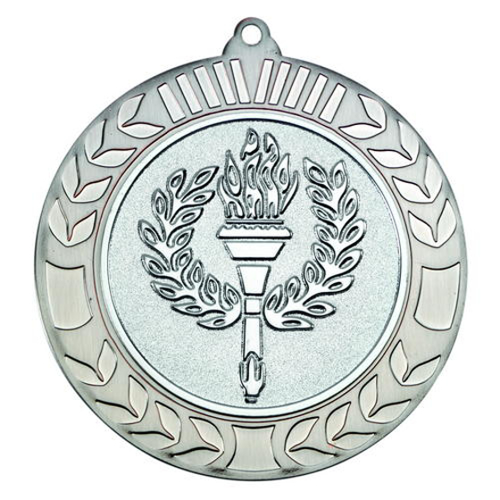 Picture of Wreath Medal (2in Centre) - Antique Silv 2.75in (70mm)