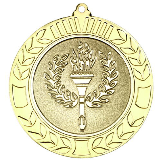 Picture of Wreath Medal (2in Centre) - Gold 2.75in (70mm)