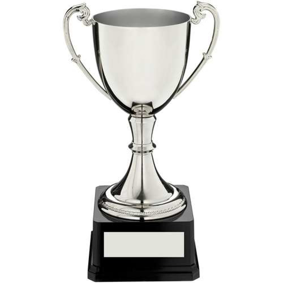 Picture of Nickel Plated Cup On Heavyweight Base Trophy - 11.75in (298mm)
