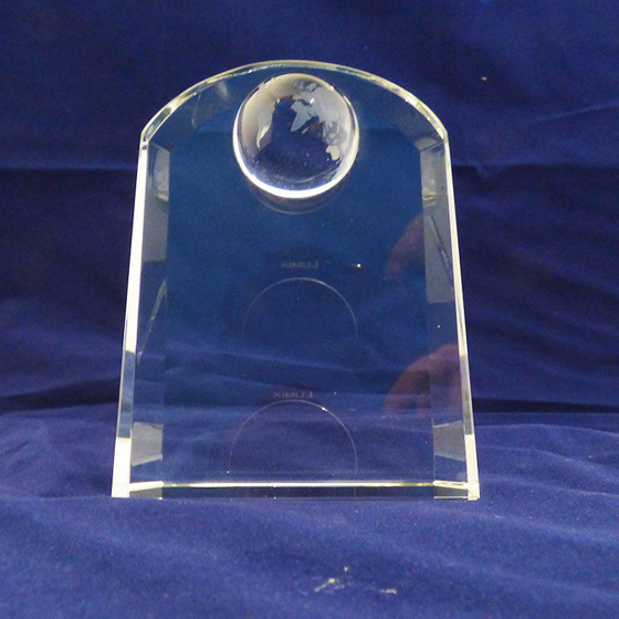 Picture of Arched shape globe award 130mm