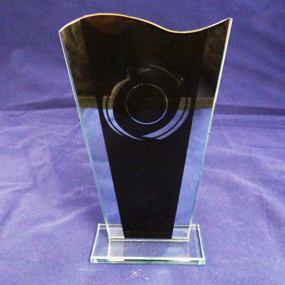 Picture of Black Printed Glass Award 165mm