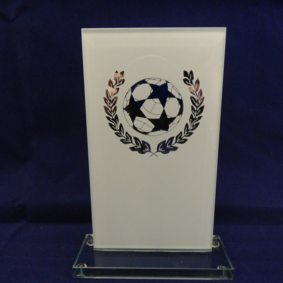 Picture of White Glass Football Award, 150mm