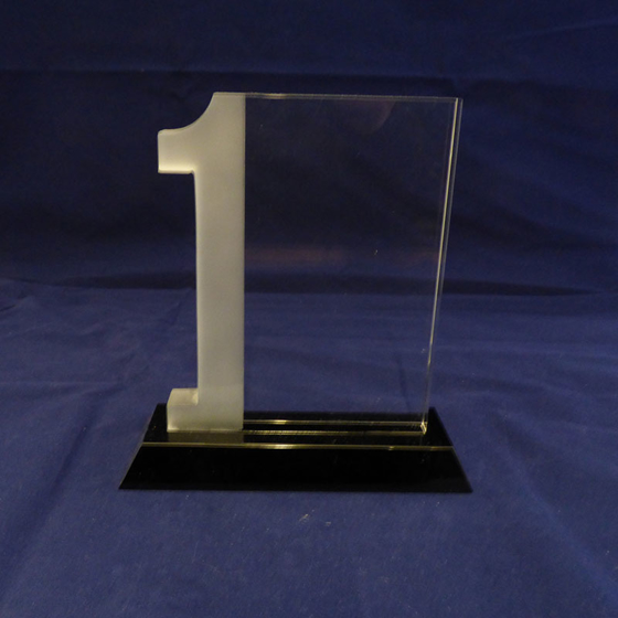 Picture of Number 1 Glass Award. 170mm