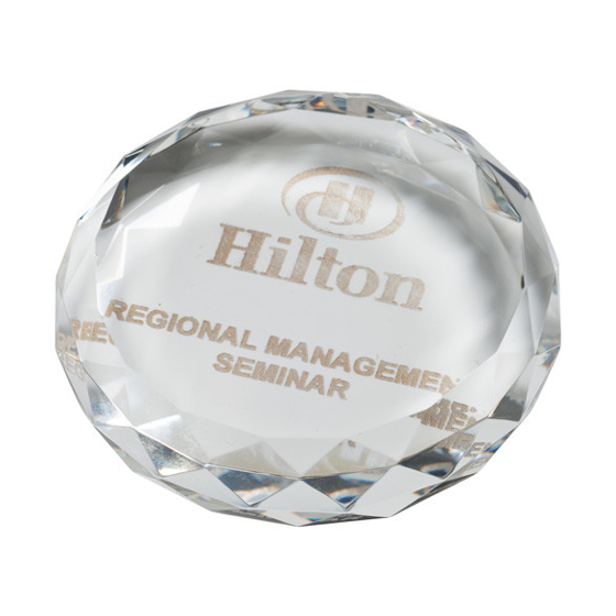 Picture of York Optical Crystal Paperweight 90mm