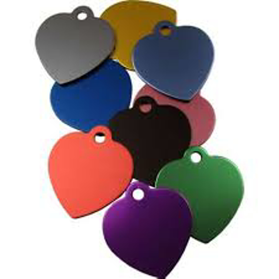 Picture of Pet Tag Heart with Tab 19 mm