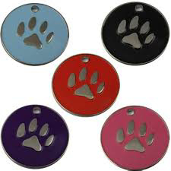 Picture of Paw Pet Tags 25mm