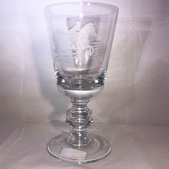 Picture of 20.5cm Handmade Walton Goblet with Racehorse