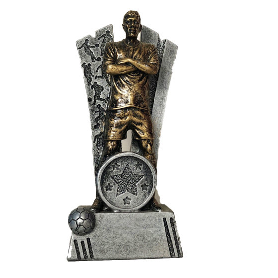 Picture of V-Shaped footballer and Ball Award 130mm