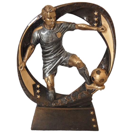 Picture of Footballer & Ball Circular Award 190mm