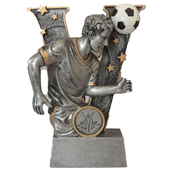 Picture of V Shaped Footballer and Ball Award 150mm