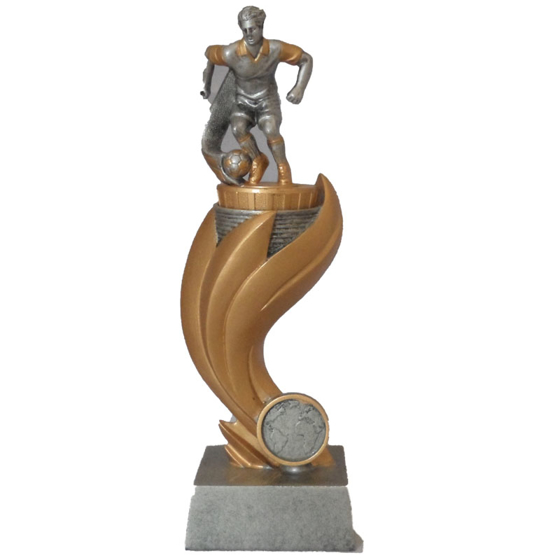 Picture of Footballer on Olympic Type Pedestal 230mm