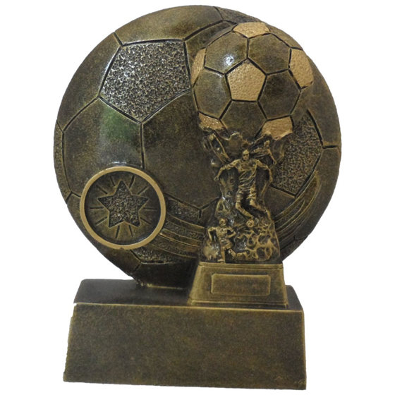 Picture of Dual Football and player Award 130mm