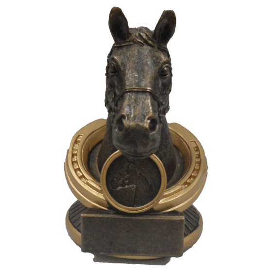 Picture of Horse Head with Horse Shoe Surround 135mm