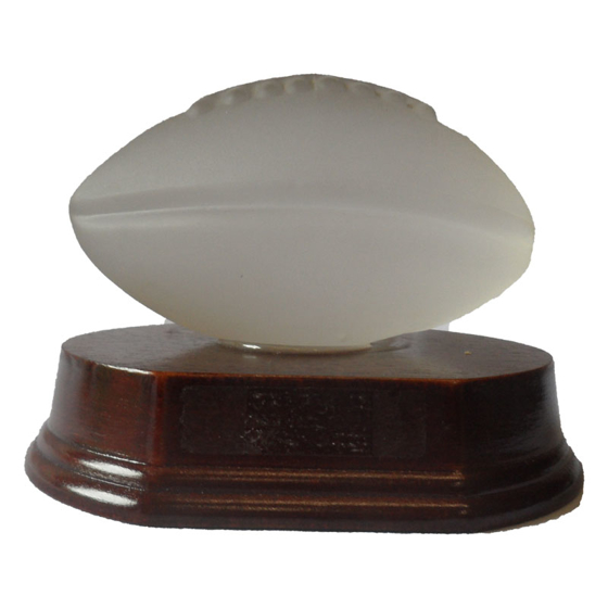 Picture of Frosted Glass Rugby Ball 80mm x 100mm