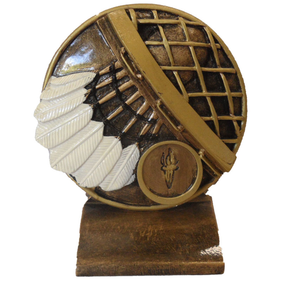 Picture of Shuttlecock on round background 105mm
