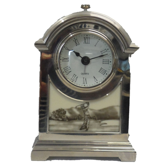 Picture of Golfers carriage clock 165mm