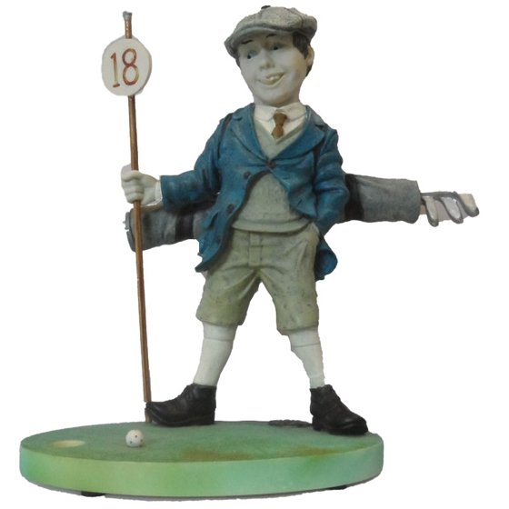 Picture of Man on green caricature 190mm
