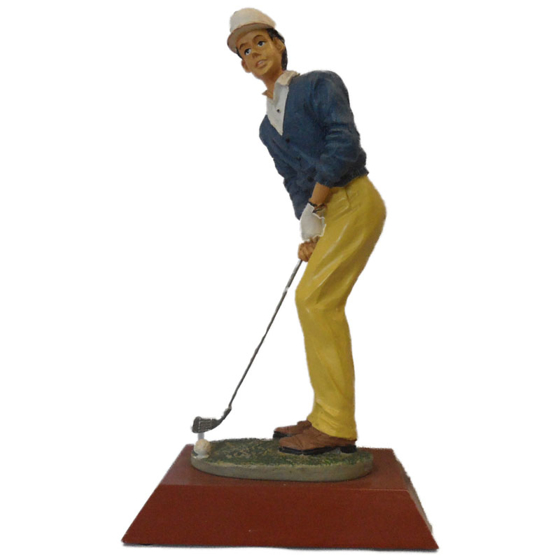Picture of Golfer chipping caricature 215mm