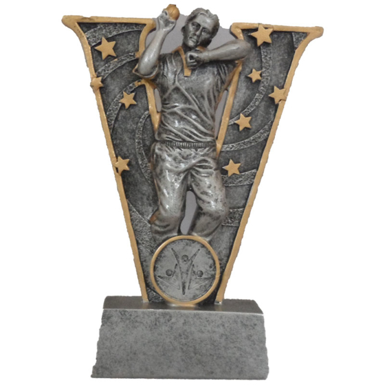 Picture of V-Shaped Cricket Bowler Award 155mm