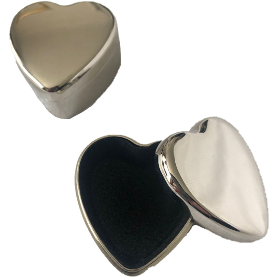 Picture of Silver Heart Keepsake Box