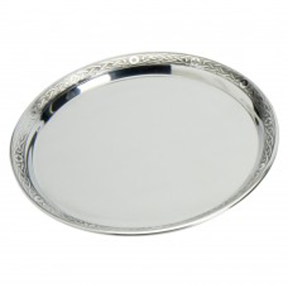 """Picture of Pewter tray with celtic rim 7"""""""