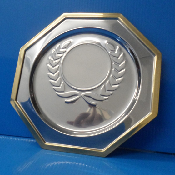"""Picture of Salver with Gold Edge and Laurel 6"""""""