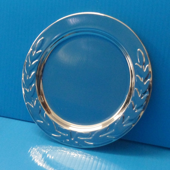 Picture of Silver salver laurel edged 4""