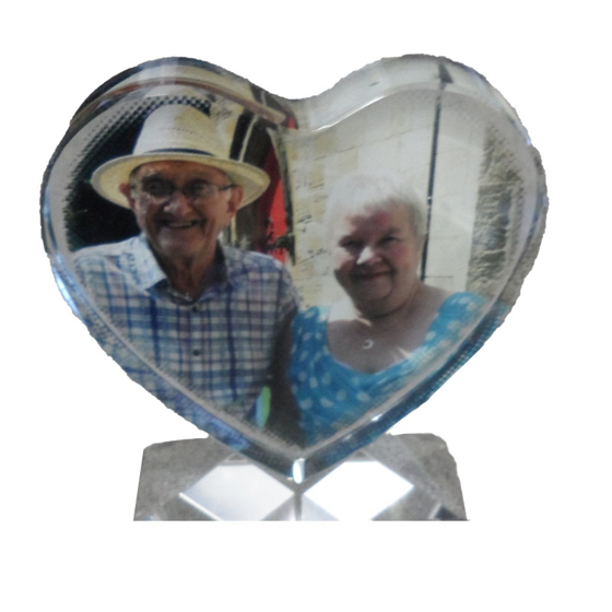 Picture of Printed Glass Heart 110mm