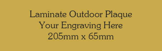 Picture of Gold Colour Outdoor Laminate Plaque 205mm x 65mm