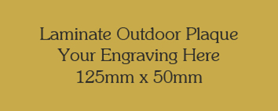Picture of Gold Colour Outdoor Laminate Plaque 125mm x 50mm