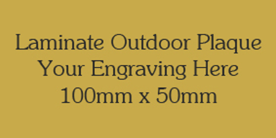 Picture of Gold Colour Outdoor Laminate Plaque 100mm x 50mm
