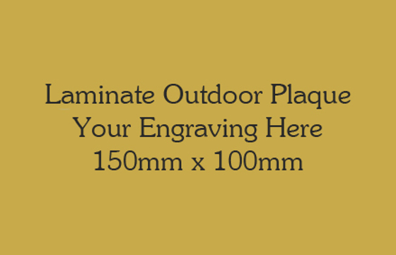 Picture of Gold Colour Outdoor Laminate Plaque 150mm x 100mm